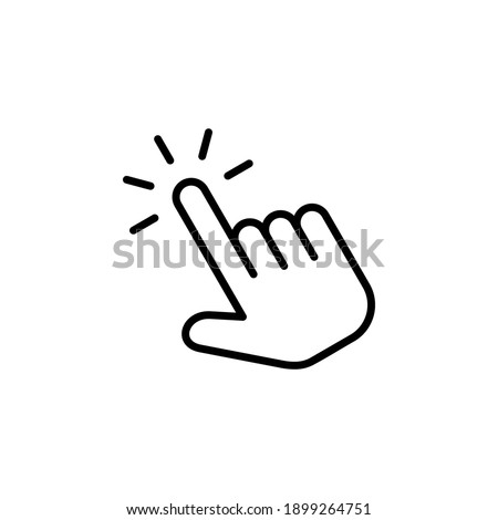Hand click icon vector. pointer icon vector. hand cursor icon vector
