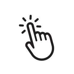 Hand click vector
