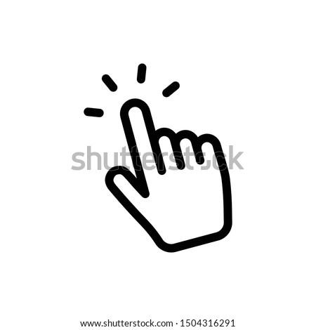 Hand clicking icon. Finger cursor vector.