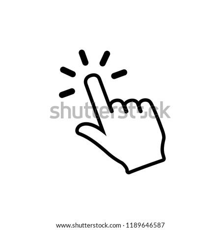 Hand cursor click icon symbol