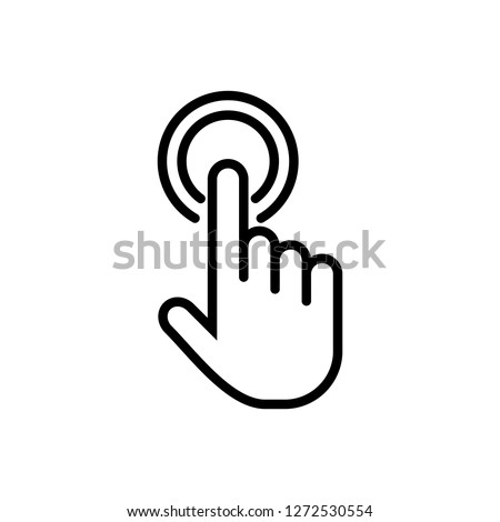 Hand cursor icon click. Hand click icon. Finger pointer isolated vector