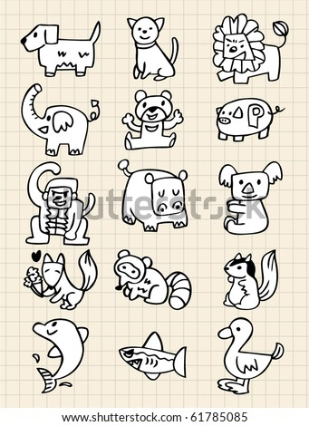hand draw animals