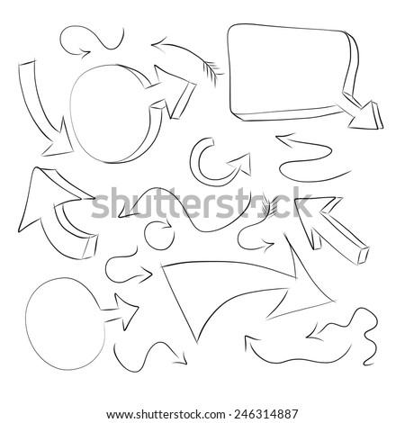 hand draw arrow icon