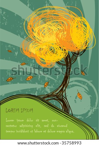 Hand-draw autumn background design series