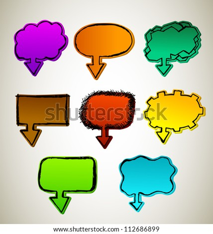 Hand Draw chat Bubbles set
