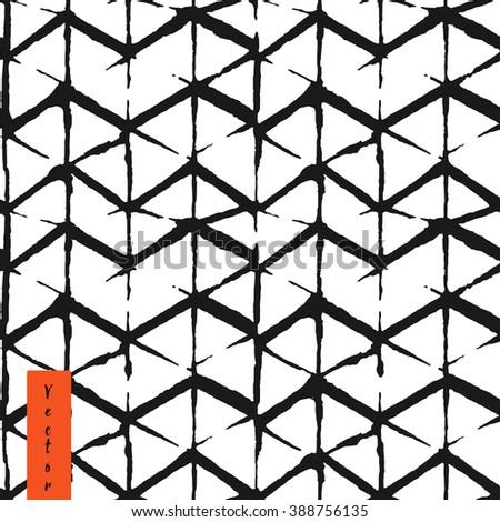 hand draw chevron pattern in