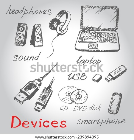 hand draw computer devices