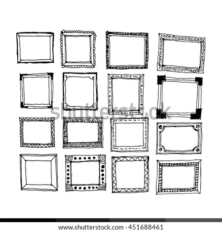 Royalty-free Hand draw sketch of Frames #428571607 Stock Photo ...