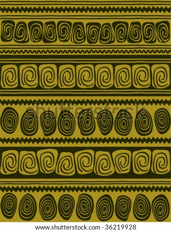 hand draw geometric borders styled like aboriginal primitive art