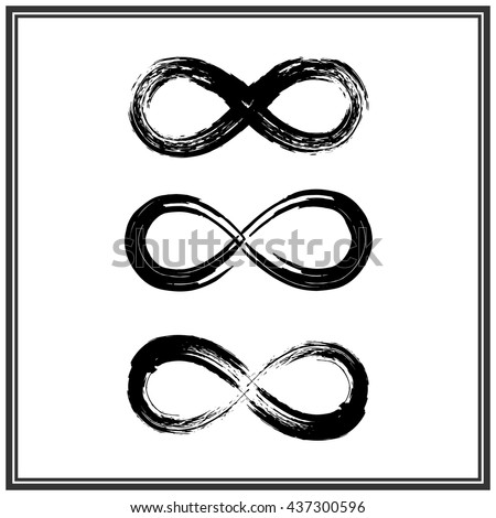 Royalty Free Hand Draw Grunge Symbol Of Infinity 437300608 Stock
