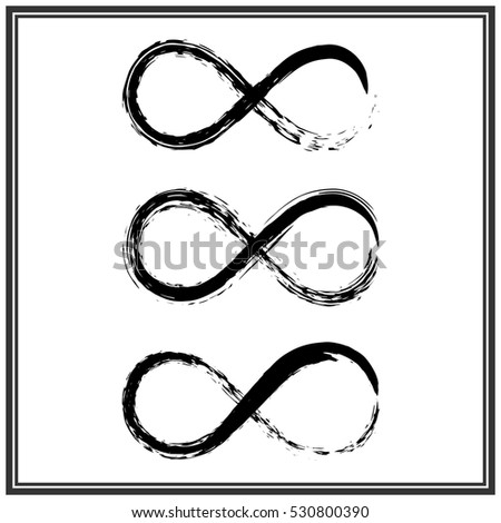 Hand Draw Grunge Symbol Of Infinity Vector Illustration Sign Ez