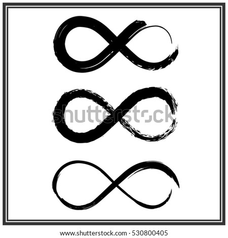 Royalty Free Hand Draw Grunge Symbol Of Infinity 530800438 Stock