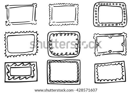Cute Doodle Frames Set Download Free Vector Art Stock Graphics