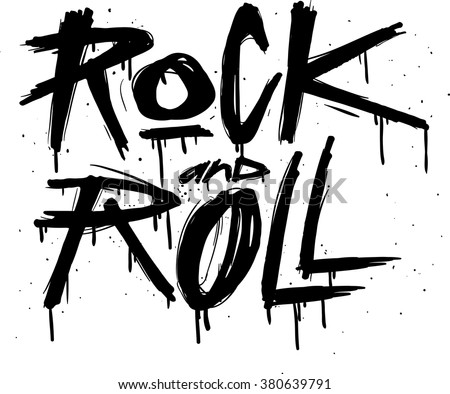 hand draw sketch rock and roll