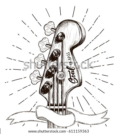 hand draw sketch with bass