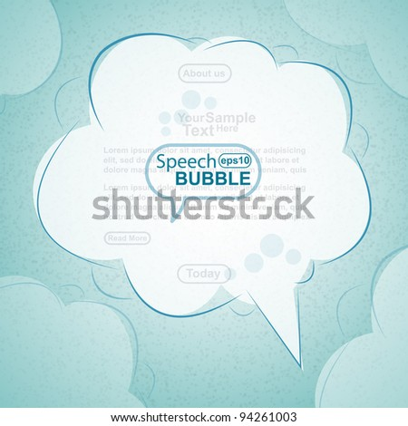 Hand draw speech bubble, vector