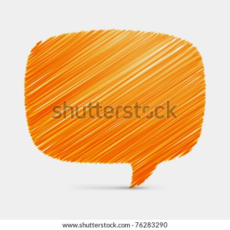 Hand draw speech bubble vector background. Eps 10,