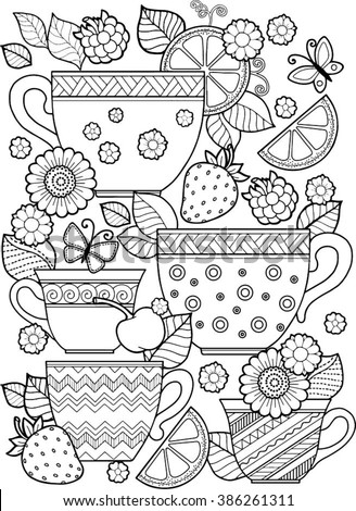 hand draw vector coloring book