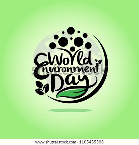 hand draw world environment day