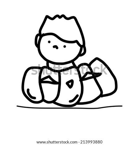 hand drawing cartoon funny halloween monster ez canvas