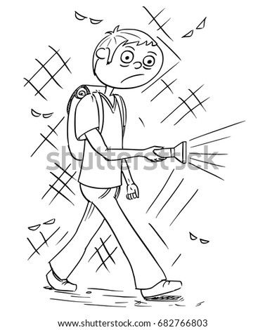 hand drawing cartoon vector