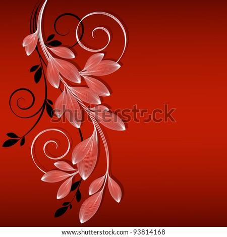 Hand-drawing floral background. Element for design. Vector illustration.