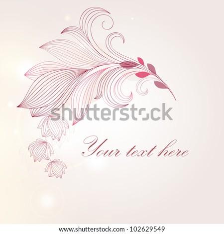 Hand-drawing floral frame. Element for design.