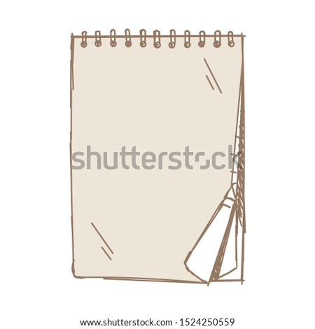 hand drawing notepad. vector notepad