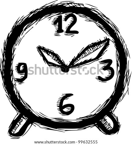 hand drawing of clock