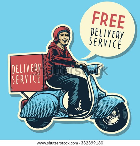 hand drawing of delivery...