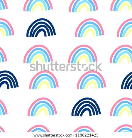 hand drawing rainbow pattern