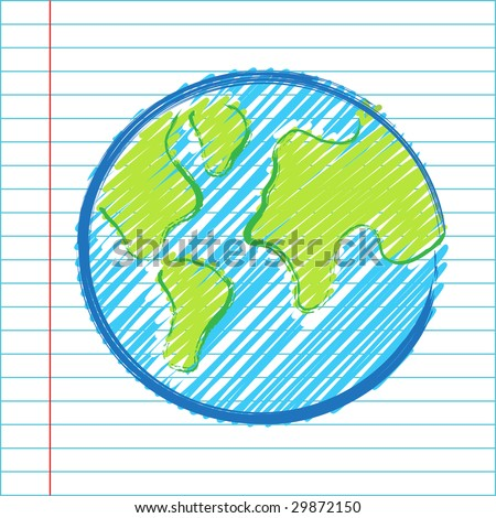 Hand drawing world map vector illustration