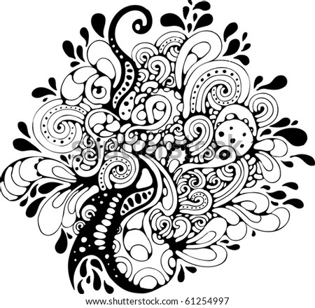 hand-drawn abstract design element