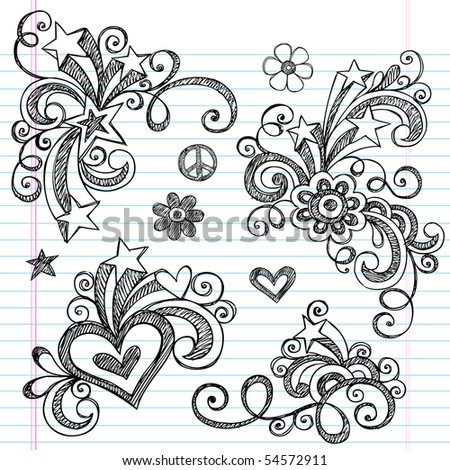 Hearts And Roses And Stars Drawings Hearts roses love envelope