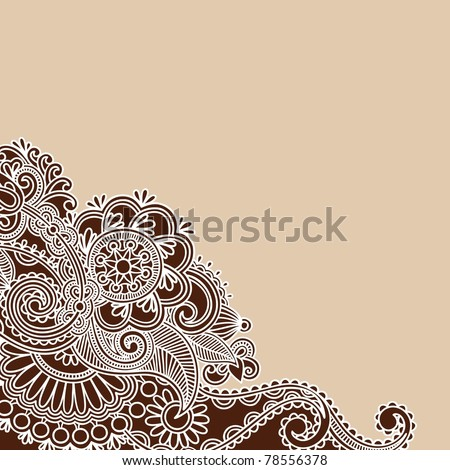 HandDrawn Abstract Henna