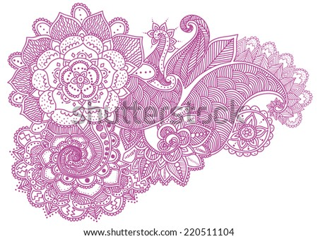 Mehndi Patterns Vector : Henna tattoo download free vector art stock graphics images