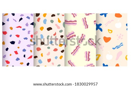 Hand drawn abstract pattern collection Photo stock ©