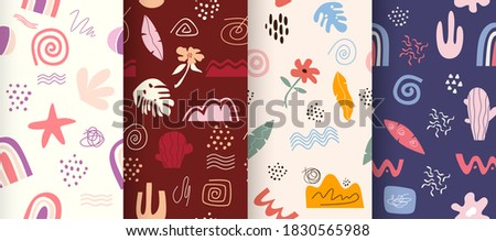 Hand drawn abstract pattern collection. Photo stock ©