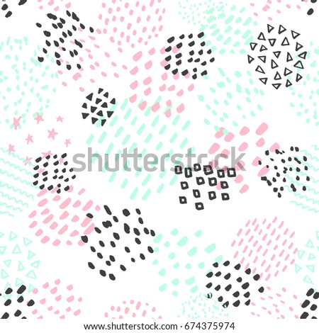 hand drawn abstract pattern in