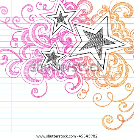 Lined Paper Background- Vector