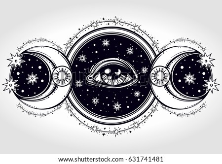 hand drawn all seeing eye is on