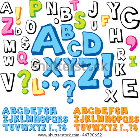 Hand drawn alphabet font