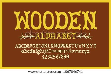 Hand Drawn alphabet. Modern vector font. Creative typeface. #1067846741