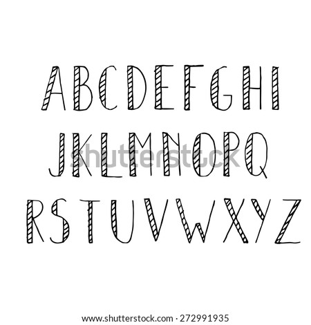 Worksheets Handwriting Alphabet handwriting alphabet search photostok larastock stock image hand drawn set pencil texture font vector illustration