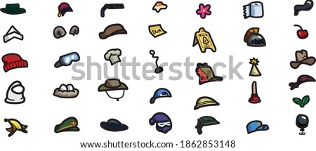 Hand drawn Among Us Hats