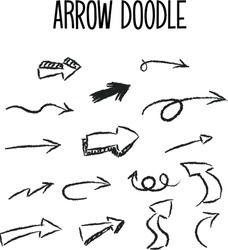 hand drawn arrow doodle set