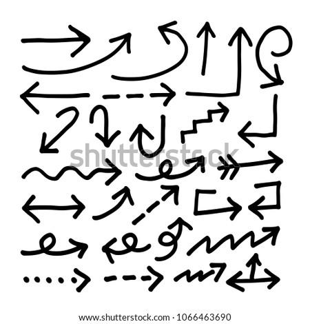 Hand drawn Arrow icon #1066463690