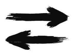 Hand drawn arrows. Grunge texture. vector illustration