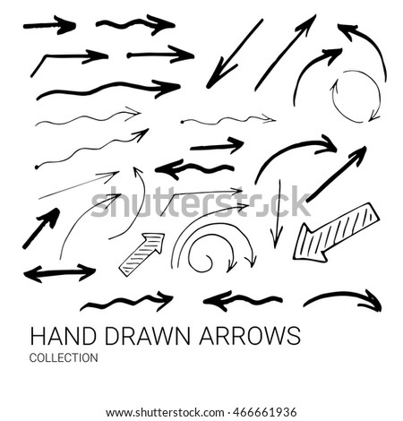 Hand drawn arrows made in vector. Use for business design element.
