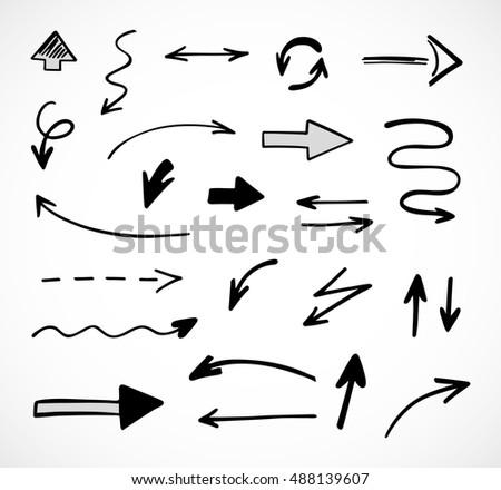hand-drawn arrows, vector set #488139607